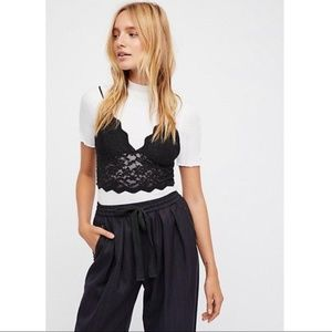Free People Black Mesh on The Outside Brami M